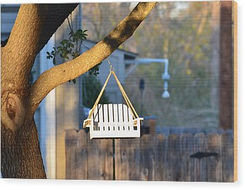A Place To Perch Wood Print by Nikki Marie Smith