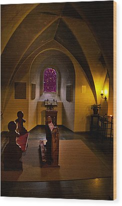 A Place To Pray Wood Print by Rick Bragan