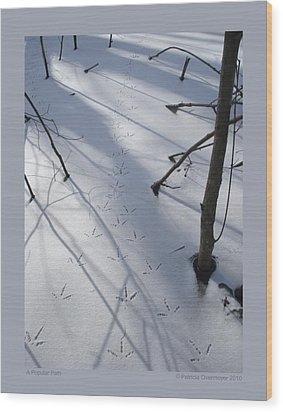 Wood Print featuring the photograph A Popular Path by Patricia Overmoyer