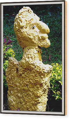 A Profile Of A Man Wood Print by Anand Swaroop Manchiraju