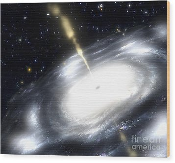 A Rare Galaxy That Is Extremely Dusty Wood Print by Stocktrek Images