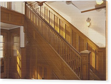 A Residential Building. An Oak Wood Print by Will Burwell