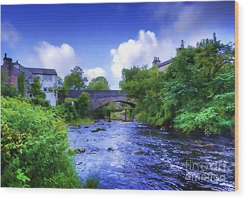 Wood Print featuring the photograph A River Runs Thru It In The Yorkshire Dales by Jack Torcello