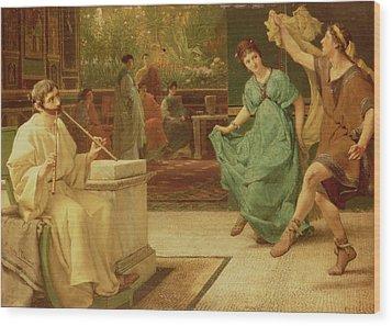 A Roman Dance Wood Print by Sir Lawrence Alma-Tadema