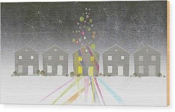 A Row Of Houses Wood Print by Jutta Kuss