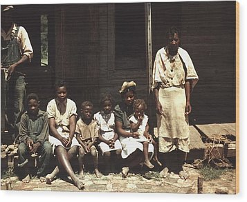 A Rural African American Family Seated Wood Print by Everett