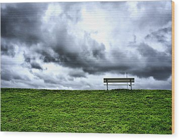 A Seat With A View Wood Print by Edward Myers