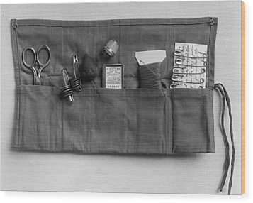 A Simple Sewing Kit, Provided Wood Print by Everett