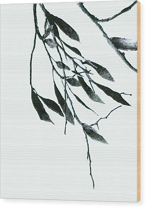 A Single Branch Wood Print by Ann Powell