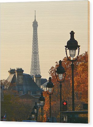 Wood Print featuring the photograph A Slice Of Paris by Eric Tressler