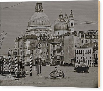 A Slice Of Venice Wood Print by Eric Tressler