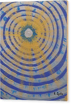 A Star Is Born Wood Print by Evelyn SPATZ