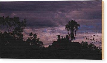 ..a Storm At Your Door Steep.. Wood Print by Adolfo hector Penas alvarado