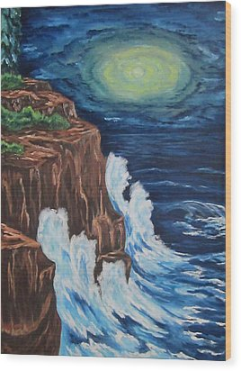 A Storm Is Brewing On Lake Michigan Wood Print