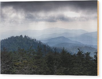 A Storm Over The Smokys Wood Print by Pixel Perfect by Michael Moore