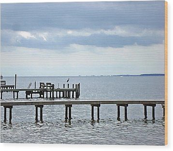 A Stormy Day On The Pamlico River Wood Print