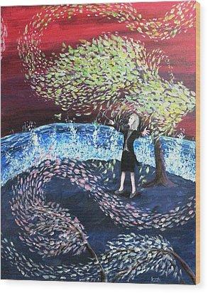 A Symphony Of Life Wood Print by Katchakul Kaewkate