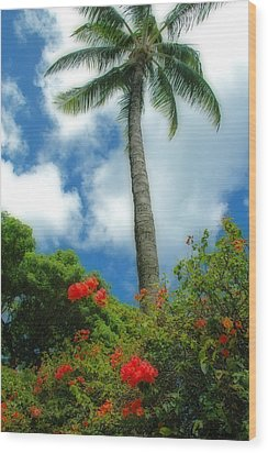 A Touch Of The Tropics Wood Print by Lynn Bauer