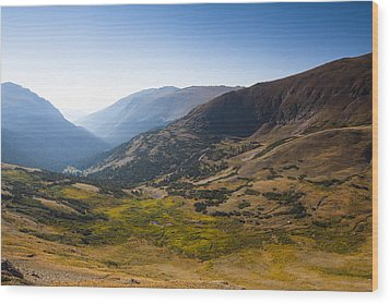 A Tundra Valley In The Colorado Rockies Wood Print by Ellie Teramoto