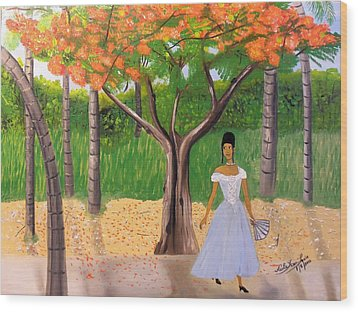 A Une Dame Creole Wood Print