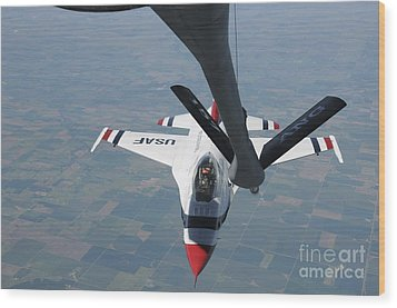 A U.s. Air Force Thunderbird Pilot Wood Print by Stocktrek Images