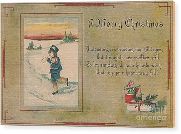 A Very Merry Christmas Wood Print by Angela Wright