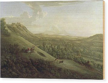 A View Of Boxhill - Surrey Wood Print by George Lambert