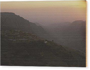 A View Of Dana, Jordan Wood Print by Kenneth Garrett