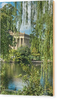 A View Of The Parthenon 11 Wood Print by Douglas Barnett