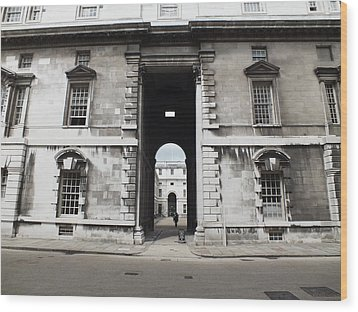 A View Of The Royal Naval College Wood Print by Anna Villarreal Garbis