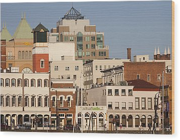 A View Of The Skyline Of Victoria Wood Print by Taylor S. Kennedy