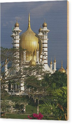A View Of The Ubudiah Mosque Wood Print by Steve Raymer