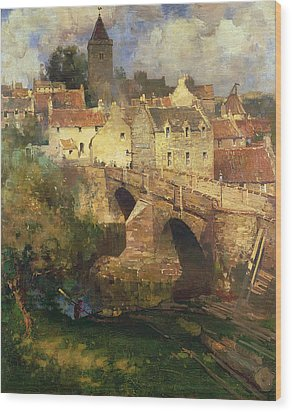 A Village In East Linton Haddington Wood Print by James Paterson