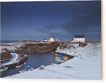 Wood Print featuring the photograph A Village On The Coast Seaton Sluice by John Short