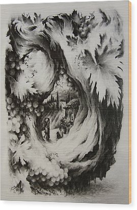 A Vintage Romance Wood Print by Rachel Christine Nowicki