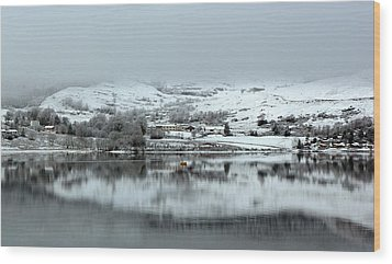 Wood Print featuring the photograph A Winter's Scene by Lynn Bolt