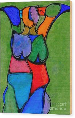 A Womanist Personality Wood Print by Antione Leonard