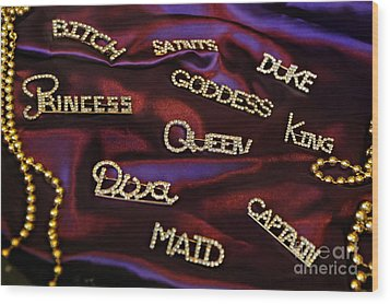 A Woman's Moods And Needs Wood Print by Kathleen K Parker