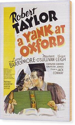 A Yank At Oxford, Maureen Osullivan Wood Print by Everett