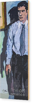 Aaron Hotchner Persuing The Reaper Wood Print by Ginette Callaway