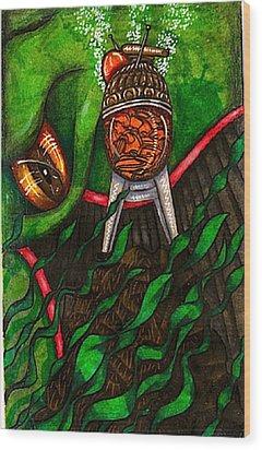 Aarron Spase Deep In Whaleworld Wood Print by Al Goldfarb