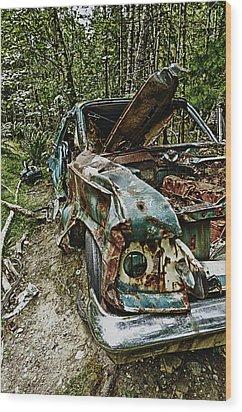 Abandon Car Wood Print by Greg Horler