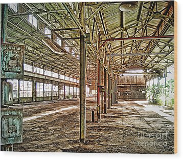 Abandon Factory Wood Print by Joe Finney