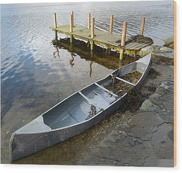 Wood Print featuring the photograph Abandoned Canoe by Lynn Bolt