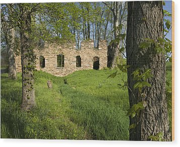 Abandoned Cider Mill Wood Print by Jim Moore
