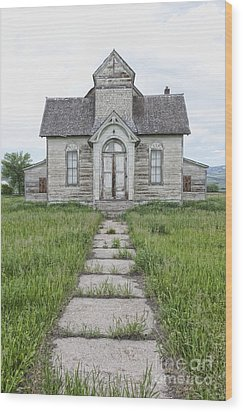 Abandoned Countryside Church Wood Print by Dave & Les Jacobs