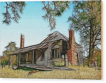 Abandoned Homestead Wood Print by Brian Gunter