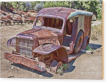 Wood Print featuring the photograph Abandoned Medic Truck by Jason Abando