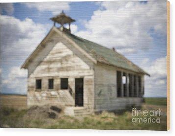 Abandoned Rural School House Wood Print by Paul Edmondson