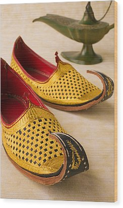 Abarian Shoes Wood Print by Garry Gay